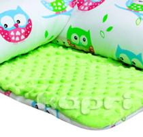 Kapri kocyk minky sowy na zielonym